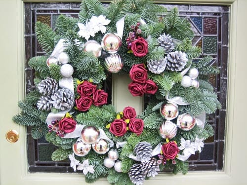 Would you like to create your own Christmas Door Wreath?