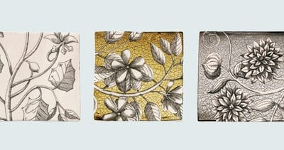 Floral inspired tiles from Welbeck Tiles