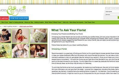 Flowers & Plants Association website – a great resource!