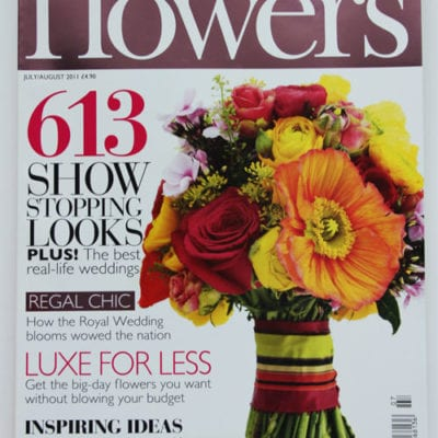 Flowerona's new column in Wedding Flowers magazine!