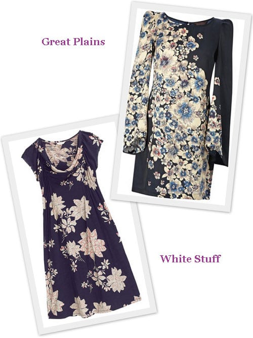 Six beautiful autumnal floral frocks