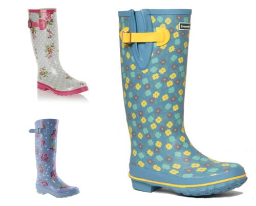 Five floral wellies to brighten up autumn walks