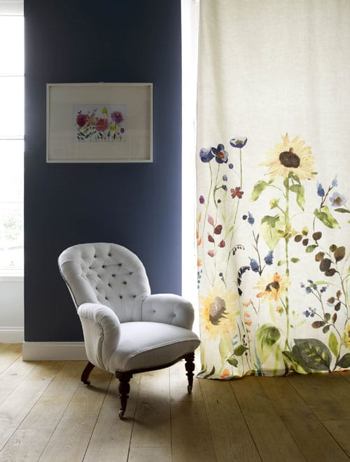 Stunning new floral fabric, cushions and prints from Bluebellgray