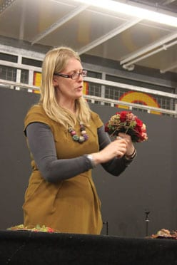 Claire Cowling's floristry demo at the Celebrating the Rose event : Part 2