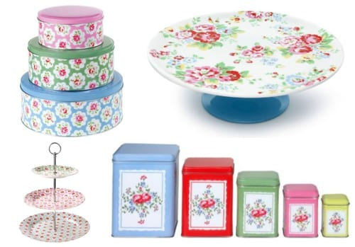 Cath Kidston Provence Rose  Tier Cake Stand