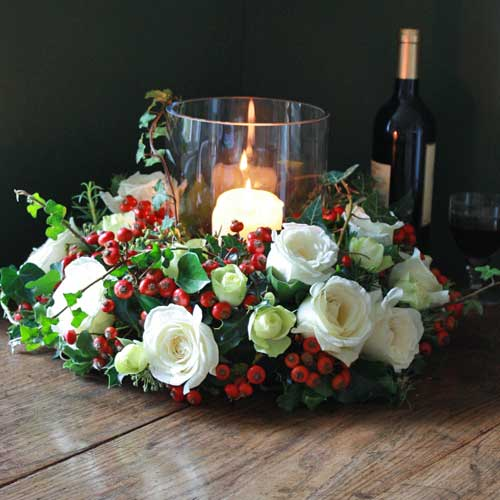 Artificial Christmas Table Arrangements