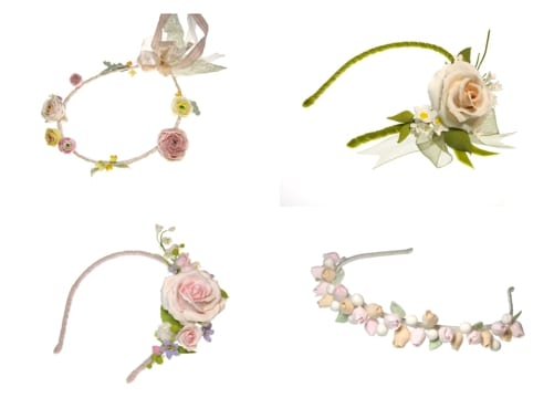 Gorgeous floral headdresses & hair combs from Lila
