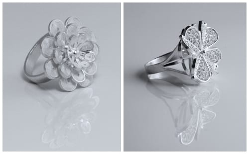 Stylish floral-inspired silver jewellery from Agora Jewellery