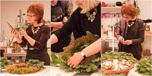 Christmas course at the Covent Garden Academy of Flowers : Part 1