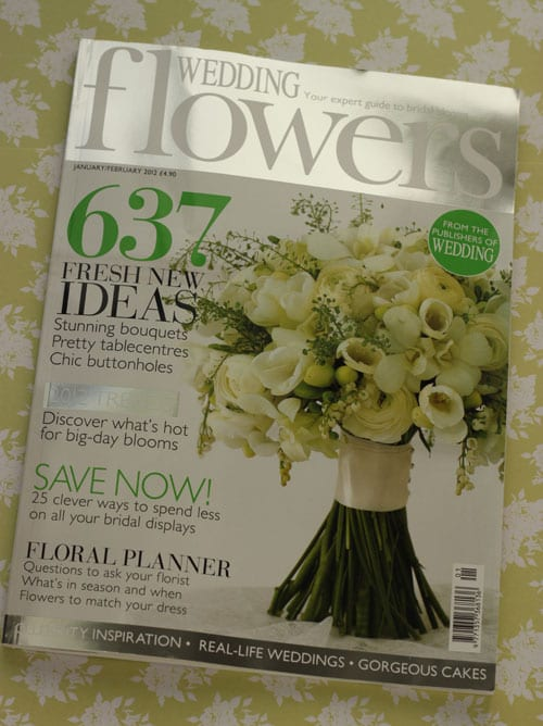 Wedding Flowers Magazine Subscription : My blooming lovely column in the new edition of wedding