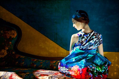 Stunning floral fashion by Mary Katrantzou, photographed by Erik Madigan Heck