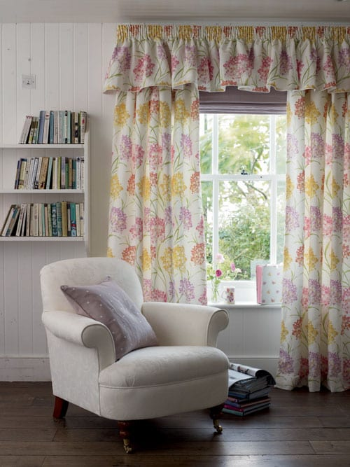 Laura Ashleys New Darling Buds Floralinspired Collection - Laura ashley living room purple