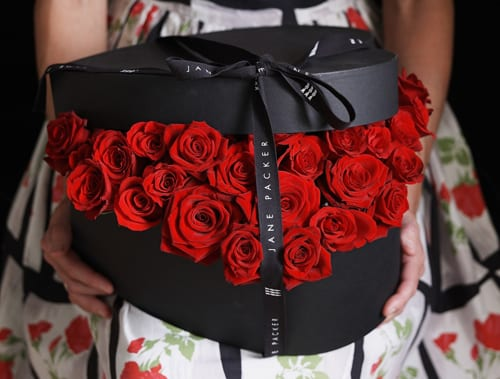 Jane Packer Delivered Valentine's Arrangement - Bed of Roses