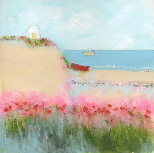 Sue Fenlon - Poppies and seagulls