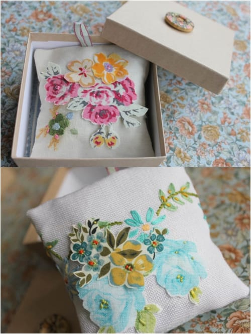 Vicky Trainor The Vintage Drawer - Lavender Pillows