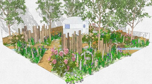 RHS Chelsea Flower Show – Jo Thompson's Show Garden for The Caravan Club : Part 1
