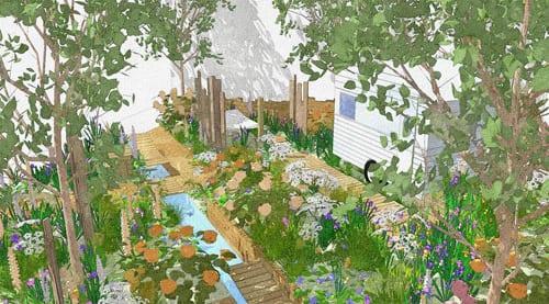 A Celebration of Caravanning Garden by Jo Thompson Chelsea 2012