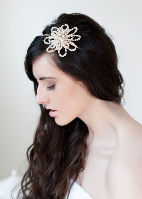 Beautiful floral-inspired wedding accessories from Tiararama
