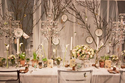 Zita Elze's stunning wedding flowers at the Designer Wedding Show