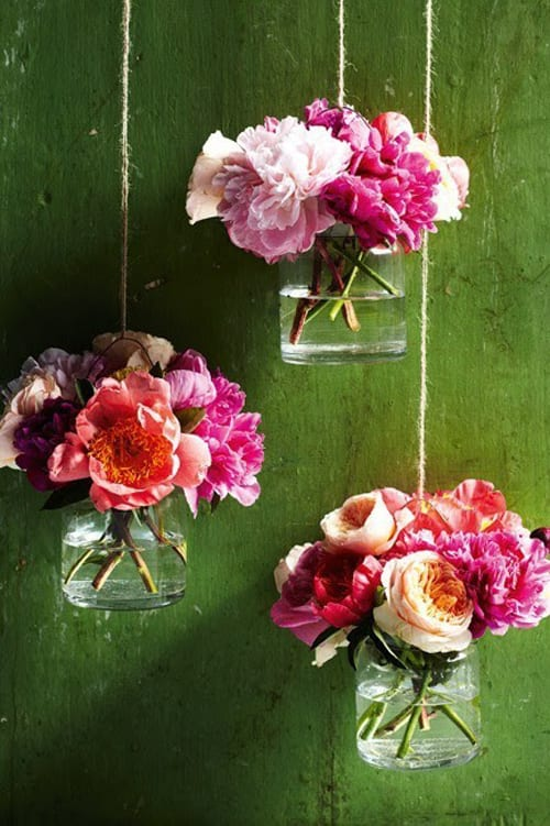 hanging flowers via Pinterest