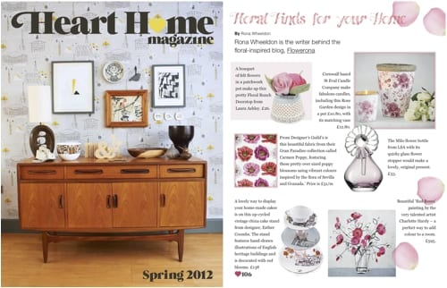 Heart Home Magazine - Flowerona column