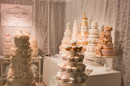 Floral-inspired wedding cakes and accessories at the Designer Wedding Show