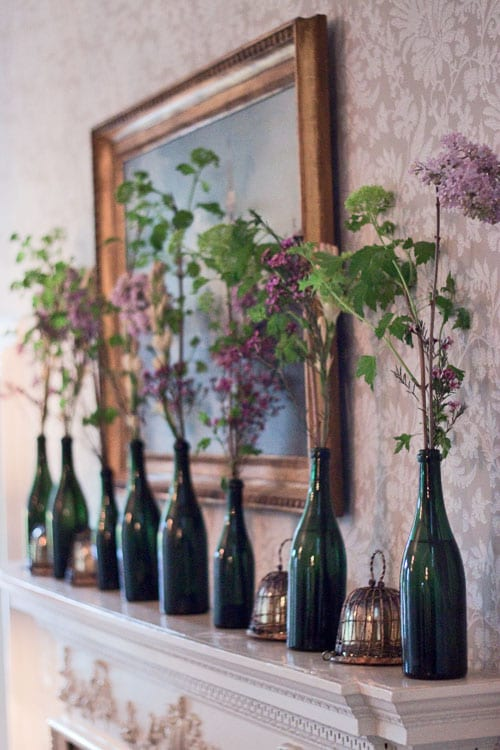 Green-bottles-arrangement-Flowerona