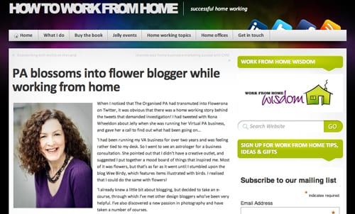 How to work from home blog - Flowerona