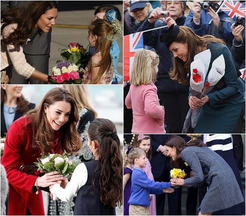 Kate Duchess of Cambridge Bouquets of Flowers