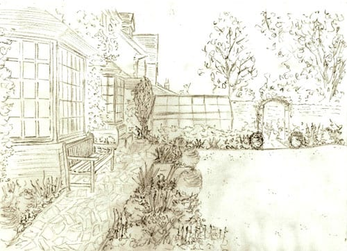 Flower Garden Sketch wwwimgarcadecom Online Image