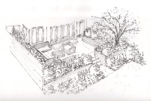 Sketch-of-Terrace-Lisa-Cox-Garden-Designs