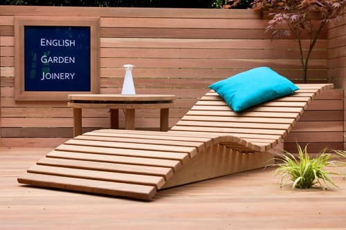 English garden joinery at the rhs chelsea flower show 2012 for Chaise originale