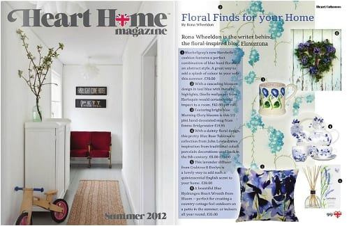 Heart Home Magazine Flowerona Column
