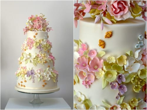 Bees & Blossom Cake Rosalind Miller Wedding Cakes