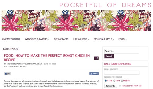 Three lifestyle blogs I love to read…Laura Ashley, Florence Finds & Pocketful of Dreams