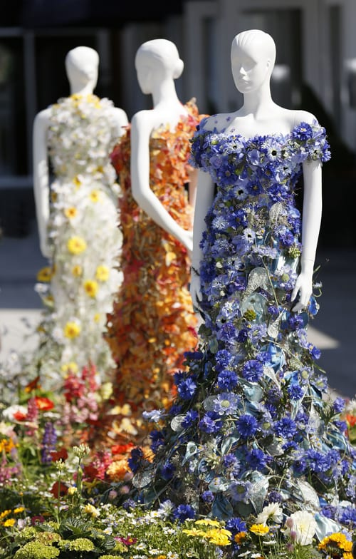 Beautiful floral dresses created by Joe Massie for the ...