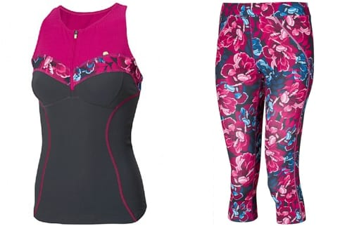 Floral workout clothes from Sweaty Betty