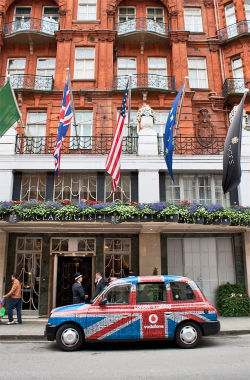 Florist McQueens…and their beautiful work in Claridge's Hotel