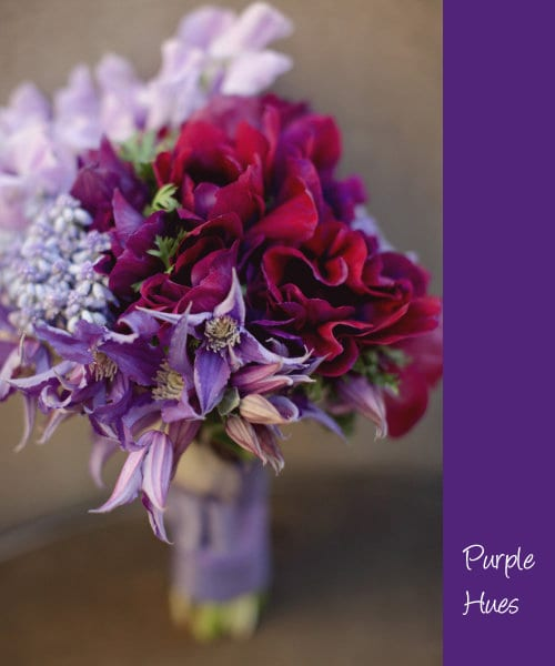 Wedding wednesday purple bridal blooms flowerona style me pretty purple flowers mightylinksfo