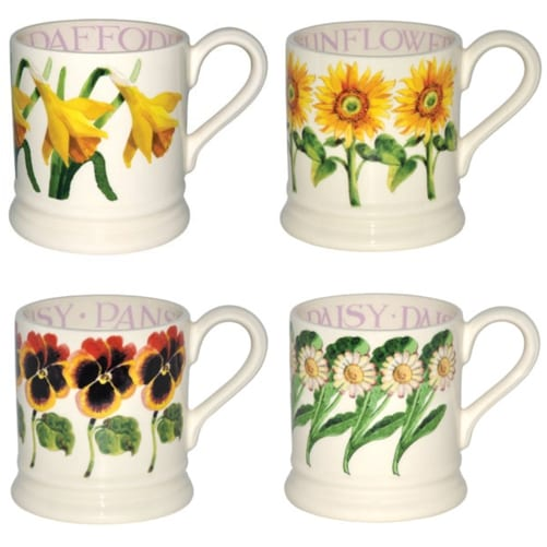 Beautiful floral-inspired mugs from Emma Bridgewater