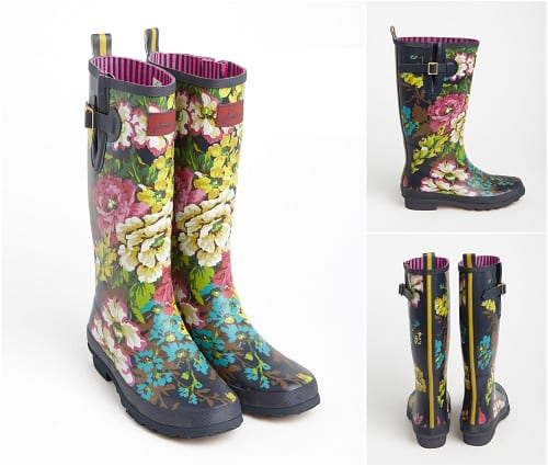 Joules Floral Wellies