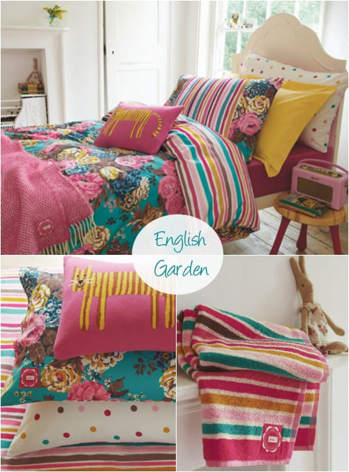 Beautiful floral-inspired bed linen from Joules…and some pretty wellies!