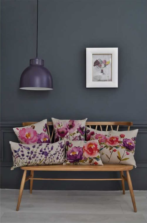 Bluebellgray's new Autumn/Winter 2012 collection of floral-inspired cushions