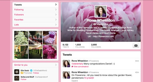 Flower-Twitter-Page