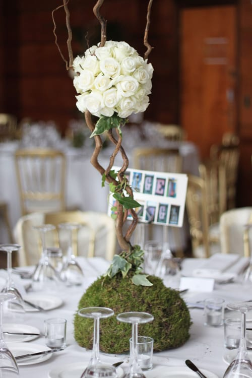 Indeco_wedding_flowers_willow_tree_centerpiece_white_roses