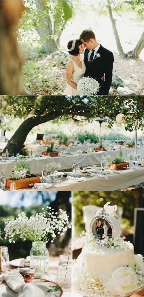 Great Gatsby Rustic Wedding Green Wedding