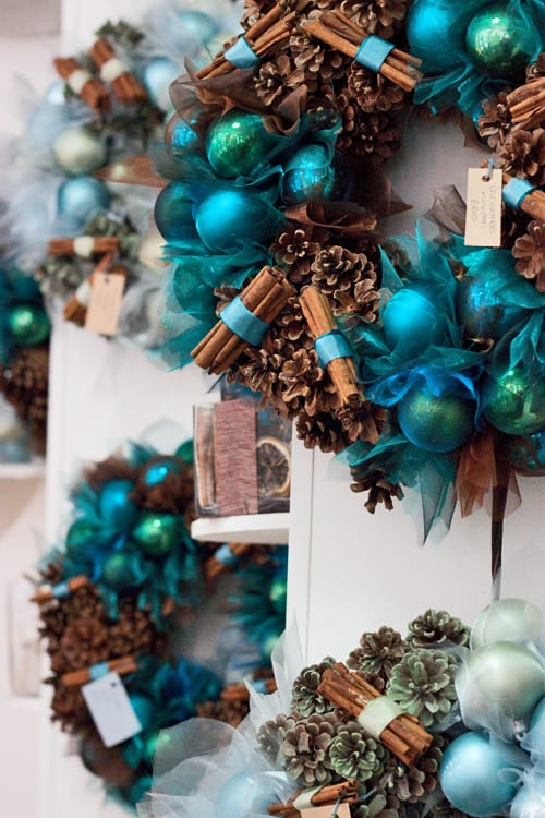 Christmas Decorations In Blue And Brown : Jane packer on