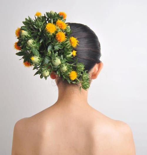 Stunning floral 'hairdressing' by Japanese artist Takaya Hanayuishi