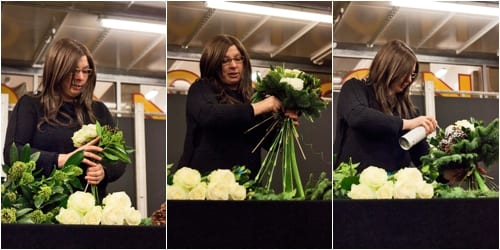 Floristry demo by Susan Lapworth from Jane Packer at the New Covent Garden Flower Market College Day
