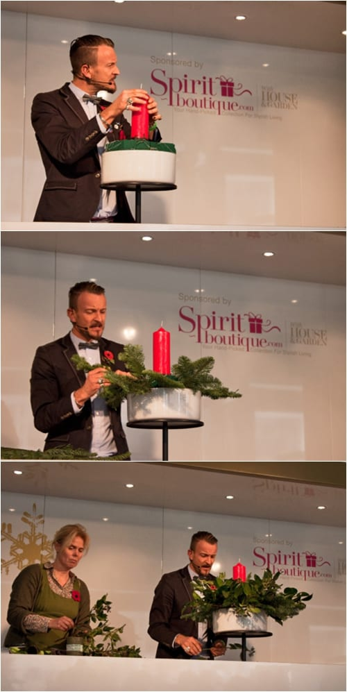Simon Lycett floristry demo at the Spirit of Christmas Fair : Part 2